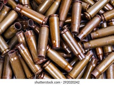 the texture of the metal casings of spent Kalashnikov