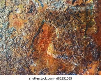 texture metal copper stone