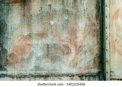 Texture of metal in wall