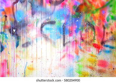 texture multicolored stains spray