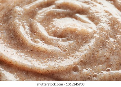 Texture of natural scrub, closeup