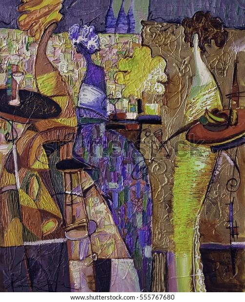 Texture Oil Painting Artist Roman Nogin Stock Photo Edit