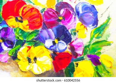 Texture oil painting, flowers, art, painted color image, paint, wallpaper and backgrounds, canvas, artist, impressionism, painting floral pattern, drawing, ornament for fabric