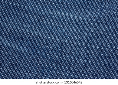 Texture of old blue jeans