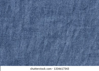 Texture of old blue jeans for background.
