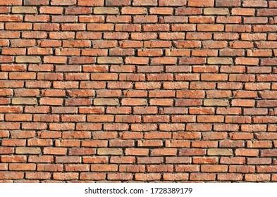 Textura del ladrillo viejo. La superficie áspera de una pared de ladrillo.