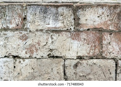 Texture of old brick wall ,background