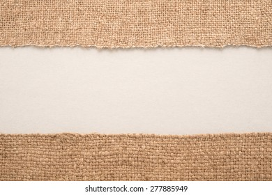 Texture of the old burlap and cardboard