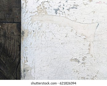 Texture. Old canvas. Flaking paint