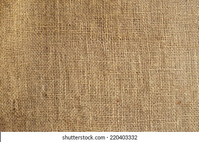 texture of old crumpled burlap,background