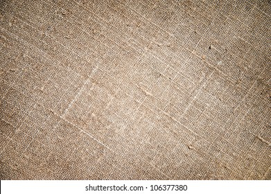 Texture of an old dirty potato sack as background