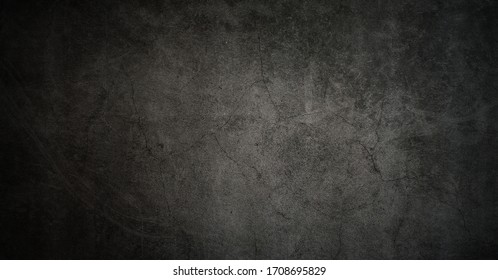 Texture of old gray concrete wall for dark background