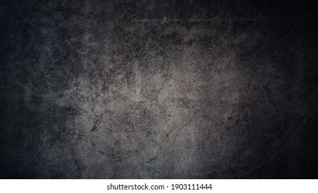 Texture of old gray concrete wall for dark gray  background