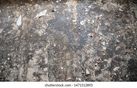 Texture of old ground with dirt with grunge tone background
