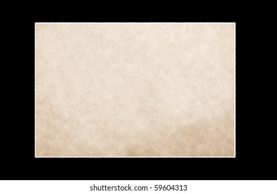 texture of old paper on black background