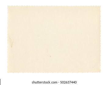Texture old paper with traces of scuffs and stains. Isolated on white.