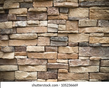 Texture of old Rectangle stone wall for background