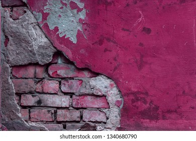 The texture of the old wall with scratches, cracks, dust, crevices, roughness. Can be used as a poster or background for design.