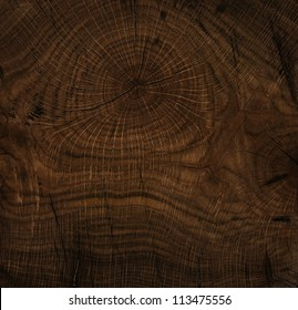 Texture of old wood, stained, polished