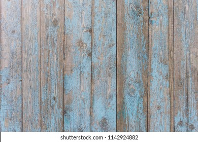 Texture of old wooden painted vertical boards, background