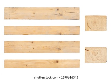 Texture of an old wooden timber. Isolated.