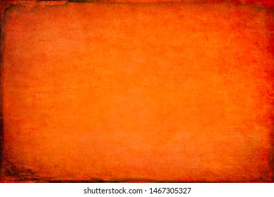 Texture of orange cardboard paper sheet. Festive bright vintage background
