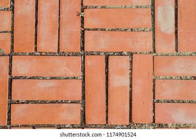 texture of pathway with red brick
