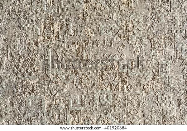 Texture pattern embossed wallpaper, closeup.