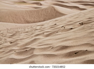 Texture and pattern of sand dune in Great sand dune national park Colorado