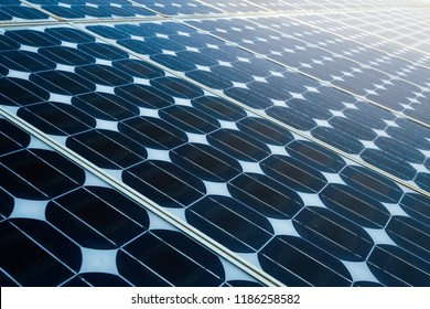 Texture of  photovoltaic panels solar panel background, Alternative energy concept,Clean energy,Green energy.