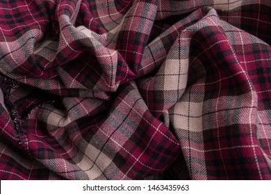Texture of plaid seamless pattern for your design pattern in red, white and navy blue, checked pattern