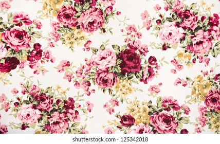 texture, print and wale of fabric in beautiful floral pattern