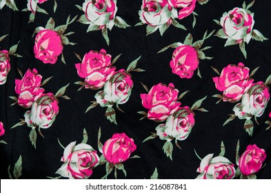 texture, print and wale of fabric in seamless beautiful floral pattern