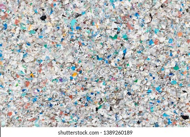 Texture of Recycled Plastic Pellets