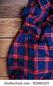 texture red and blue plaid fabric
