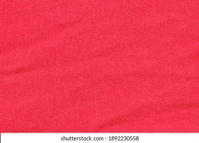 Texture of red fabric for clothing.