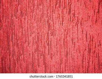 Textur einer roten Stoffabdeckung für Möbel mit Kopienraum