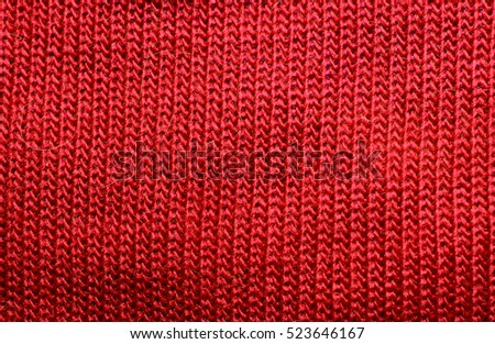 Texture Red Sweater Fabric Wallpaper