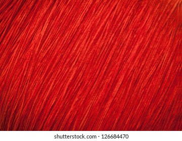 Texture of red thread pattern.
