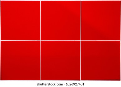 The texture of red tiles