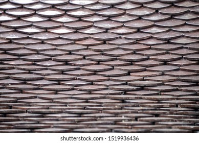 texture of roof top made from earthenware