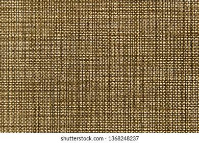 texture of rough canvas burlap brown close-up