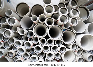 texture with round ends of water pipes