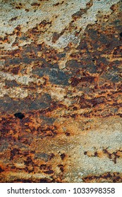 texture of rusty iron, cracked paint on an old metallic surface, sheet of rusty metal with cracked and flaky paint,  corrosion, decay metal background, decay steel, decay