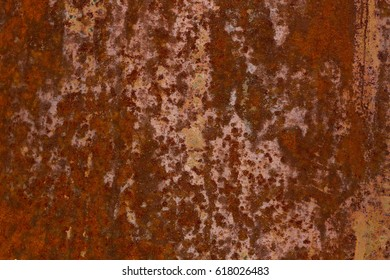 texture of rusty iron , the oxidation of the metal