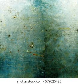 Texture of rusty metal blue