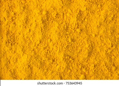 texture of saffron powder close-up, spice or seasoning as background