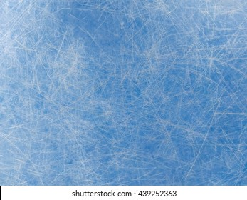 texture of scratches on the blue plastic plate for background.