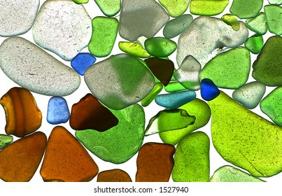 Texture: Sea Glass Scattered - Backlit