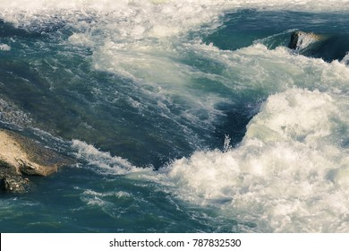 Texture of sea water with foam, background